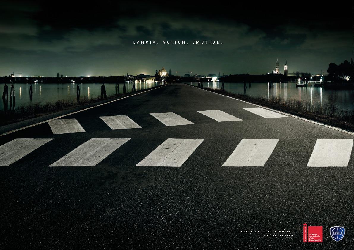 Lancia Print Ad -  Road