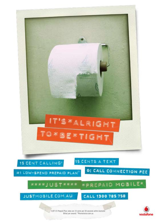 Comtel Print Ad -  Toilet roll