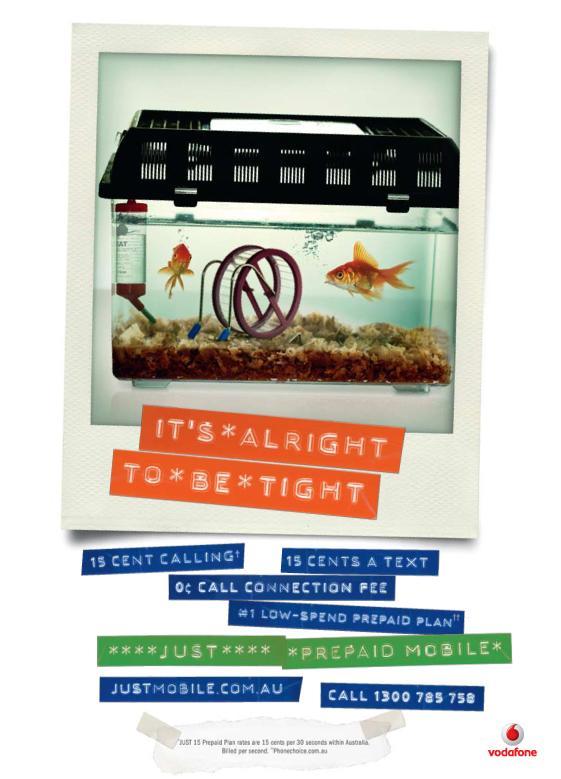 Comtel Print Ad -  Fish Tank