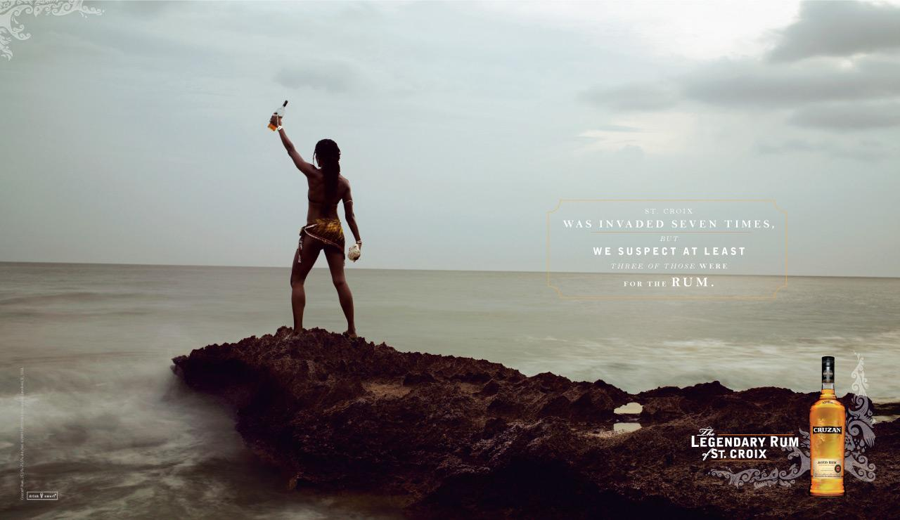 Cruzan Print Ad -  Legendary Rum of St. Croix, Invaded