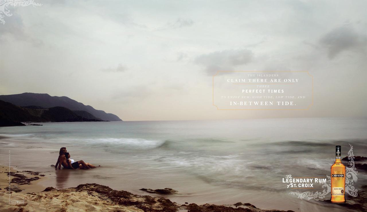 Cruzan Print Ad -  Legendary Rum of St. Croix, Tide