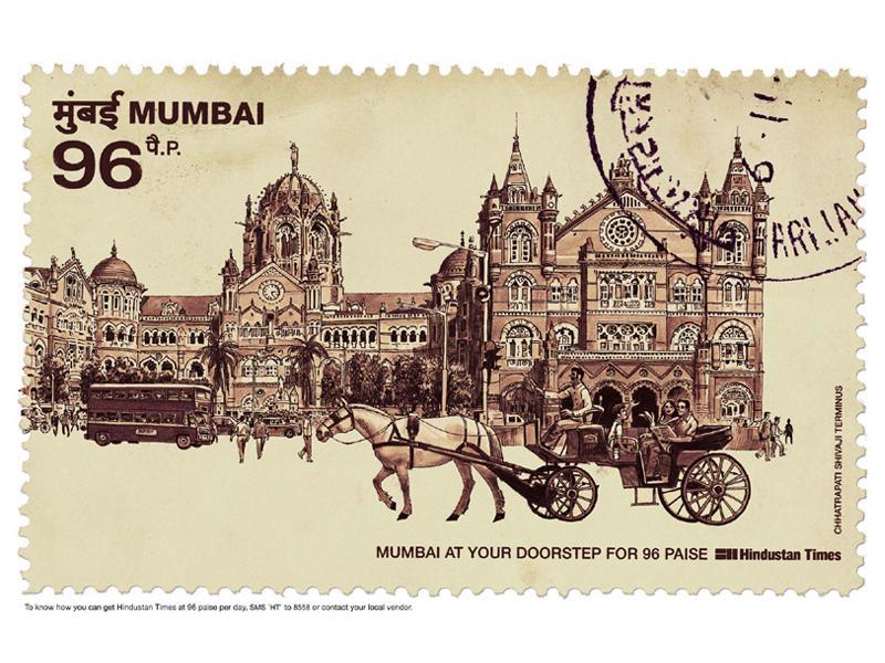 Stamp Chhatrapati Shivaji Terminus