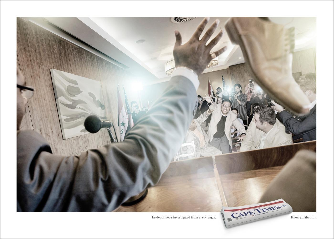 Cape Times Print Ad -  Shoe