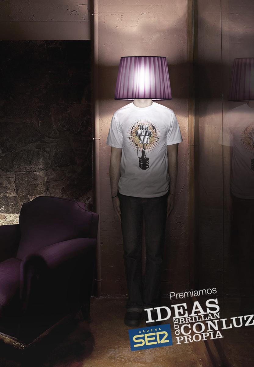 Cadena Ser Print Ad -  Lamp
