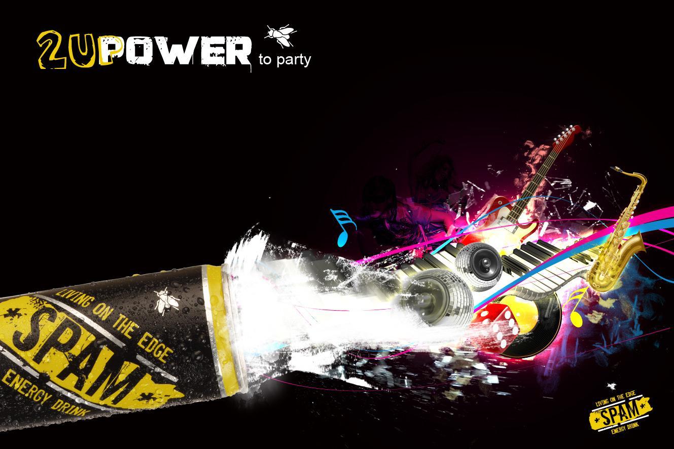 Spam Energy Drink Print Ad -  Music