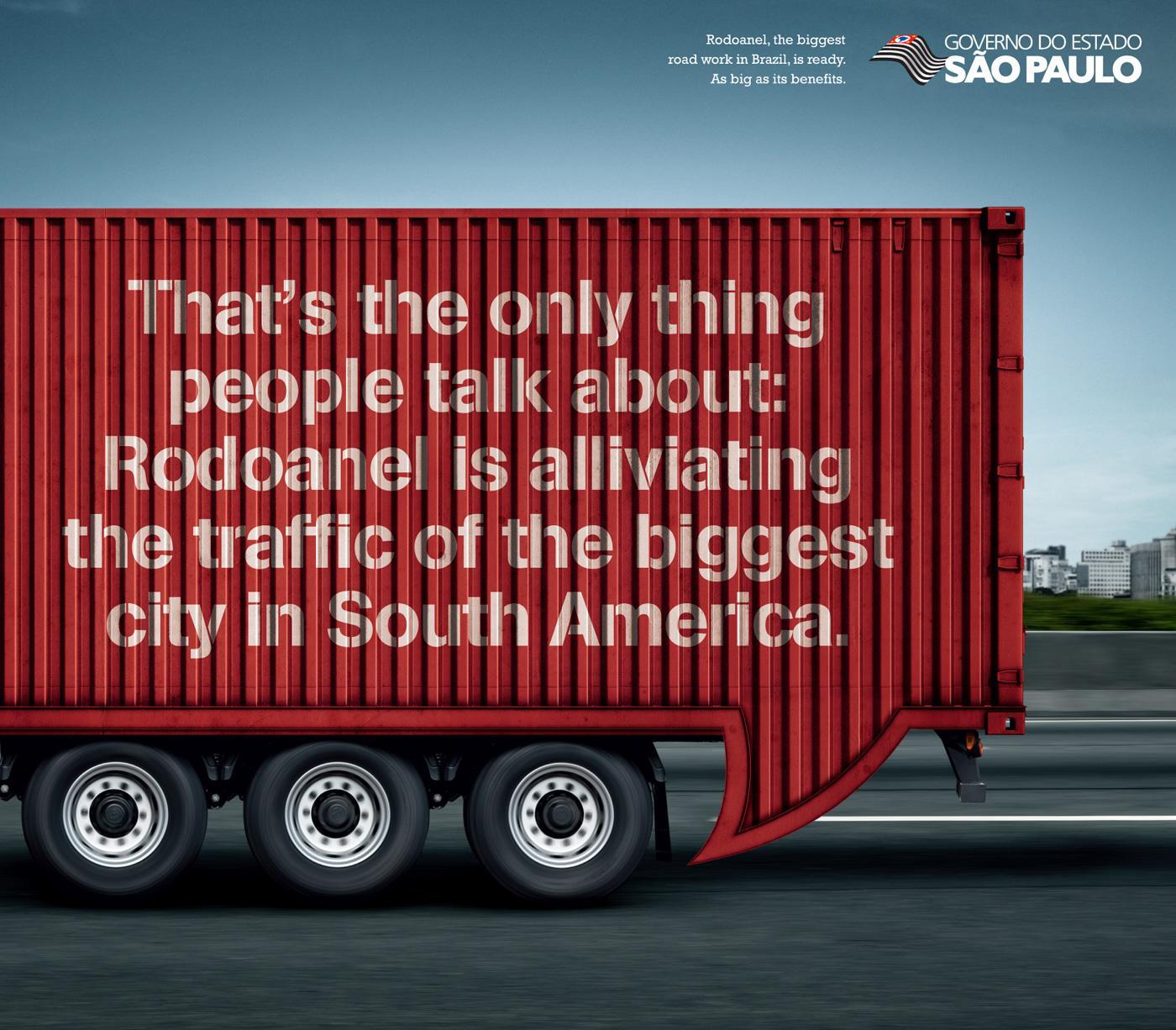 Governo do Estado Sao Paulo Print Ad -  Truck