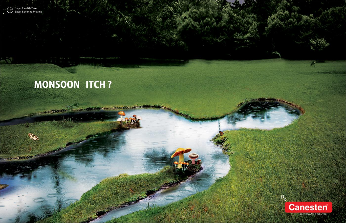 Canesten Print Ad -  Monsoon itch