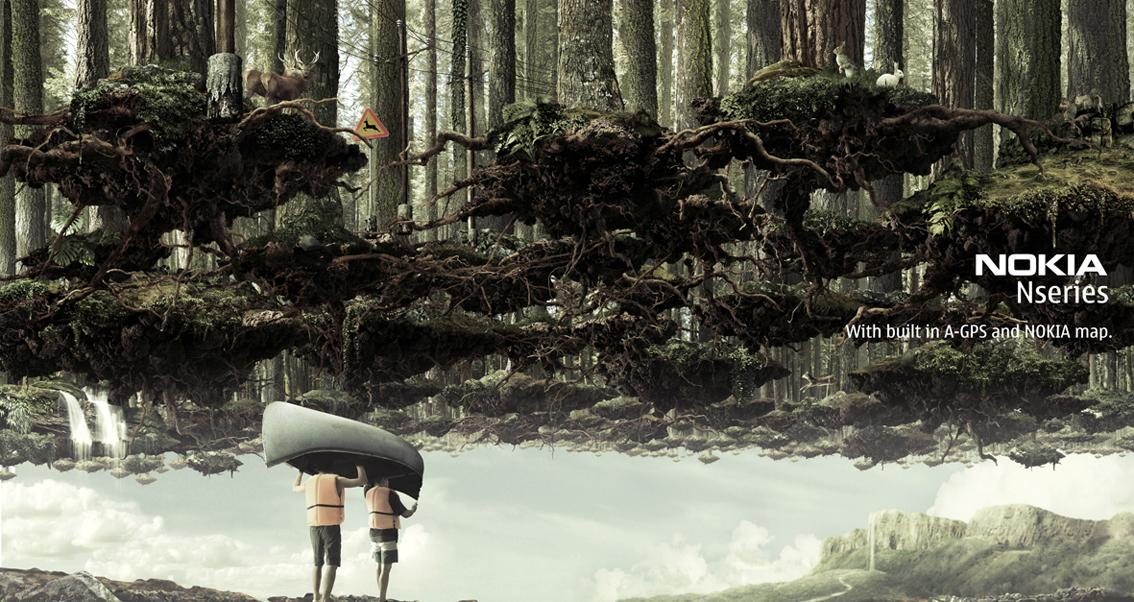Nokia Print Ad -  Canoe-River