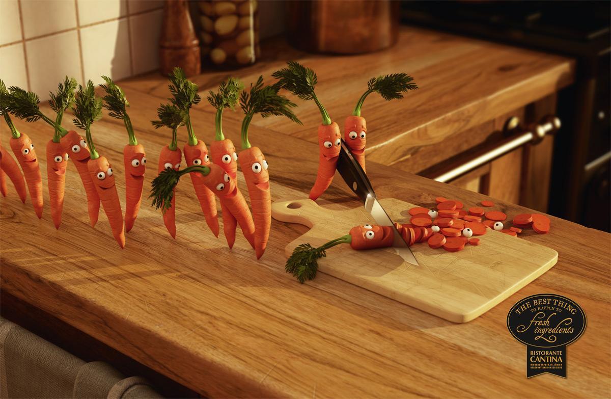 Ristorante Cantina Print Ad -  Carrots