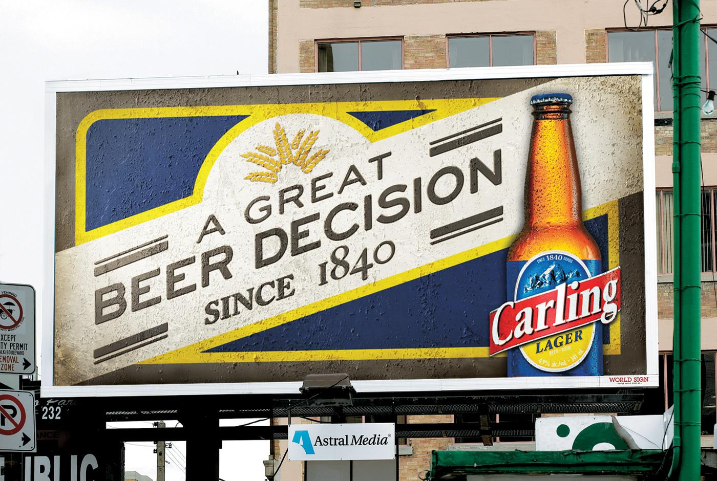 Carling Outdoor Ad -  Great Beer Decisions OOH