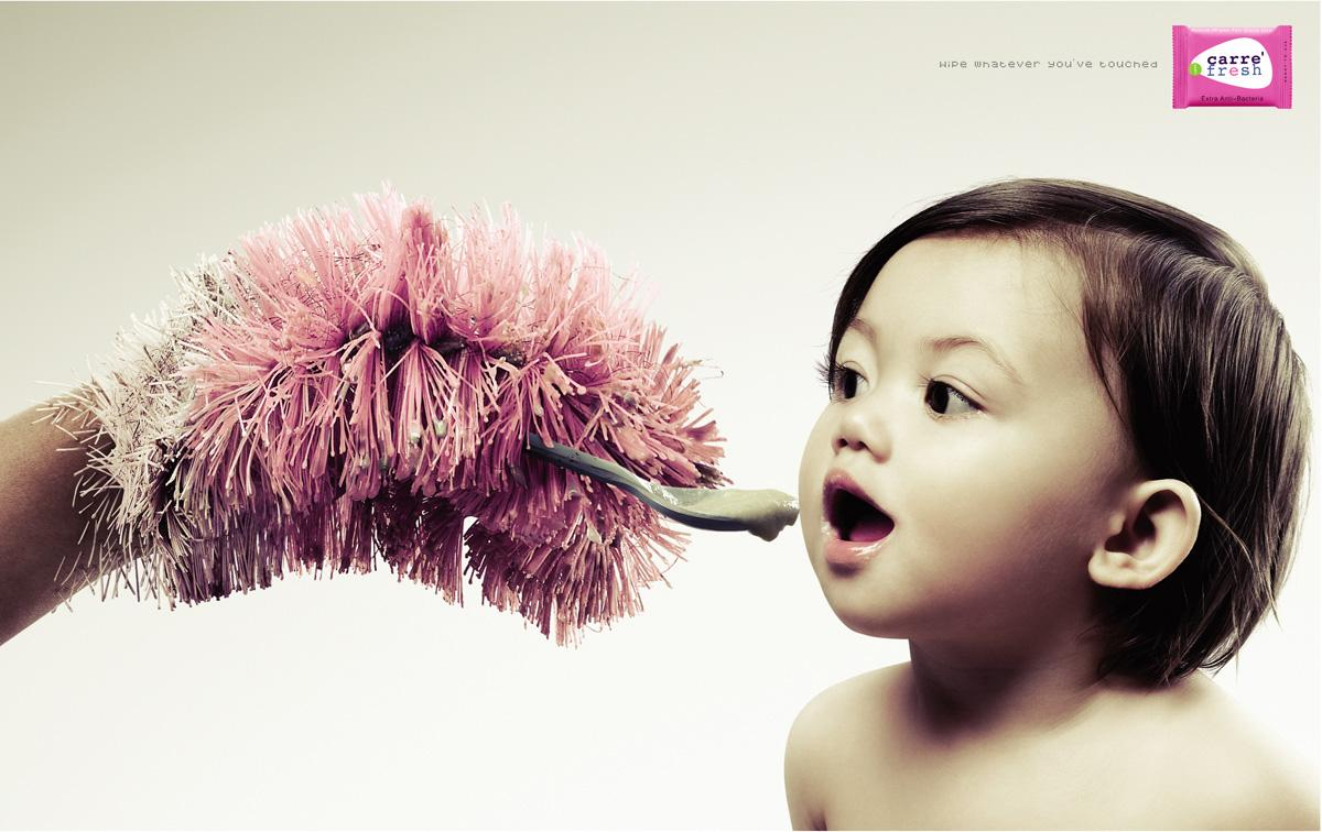 Carre' Fresh Print Ad -  Toilet brush