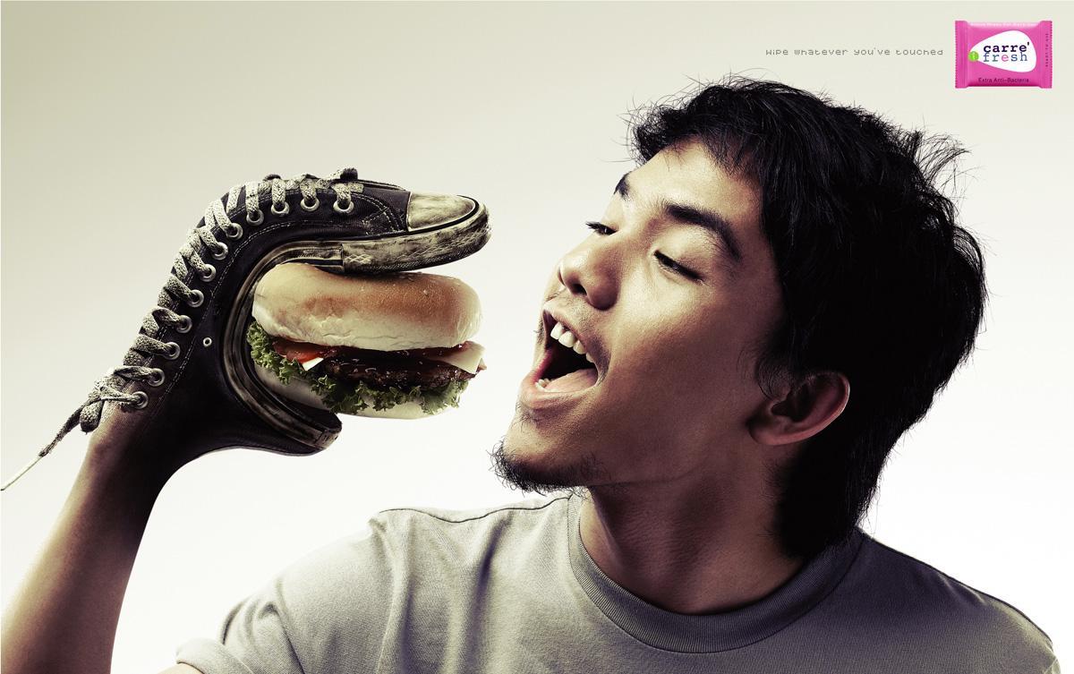 Carre' Fresh Print Ad -  Shoe