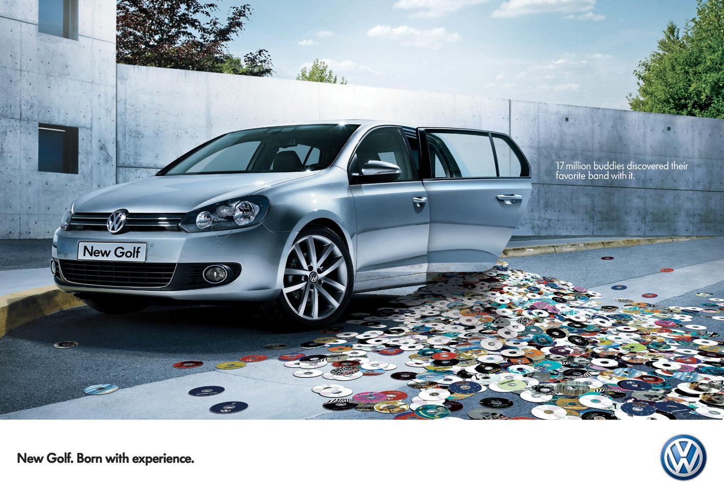 Volkswagen Print Ad -  CDs