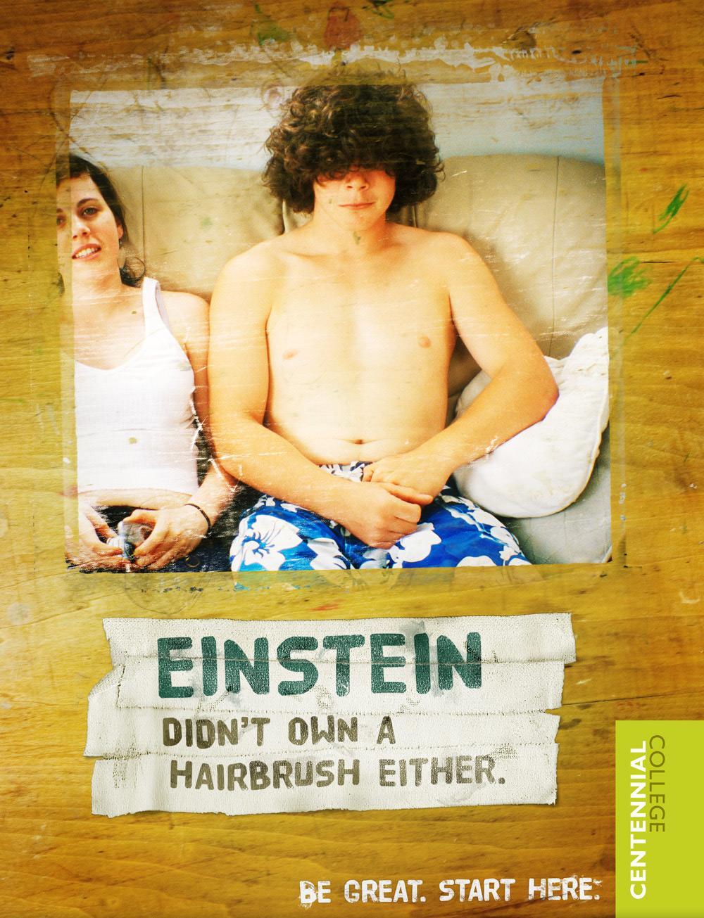 Centennial College Print Ad -  Einstein