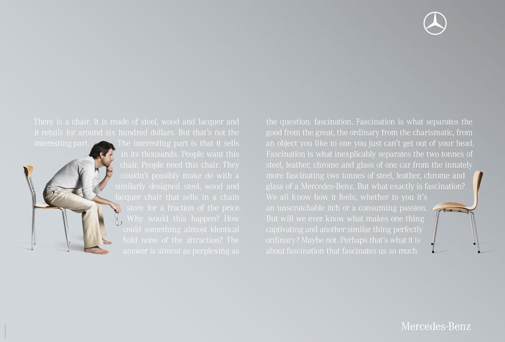 Mercedes Print Ad -  Chair