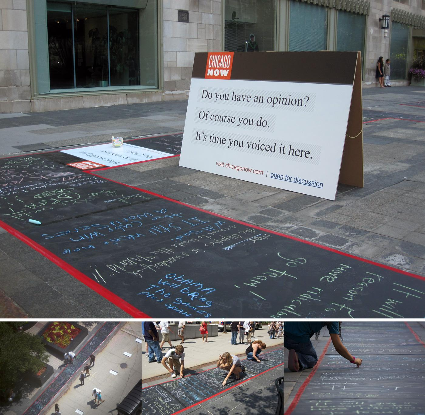 Chicago Now Ambient Ad -  Chalk blog