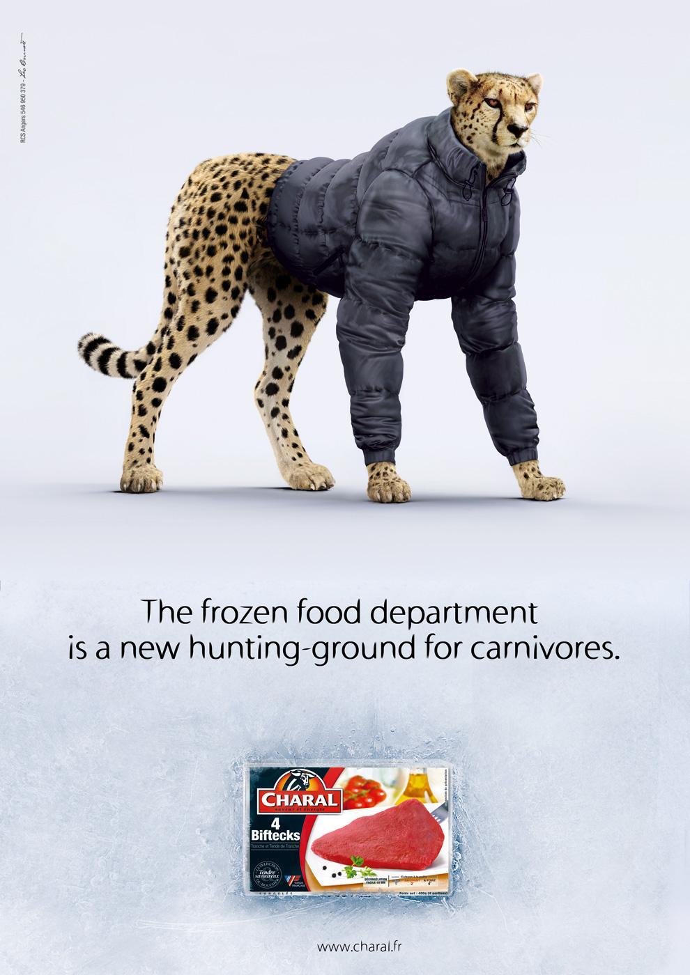 print ad leo burnett. Charal Print Ad - Cheetah Leo Burnett