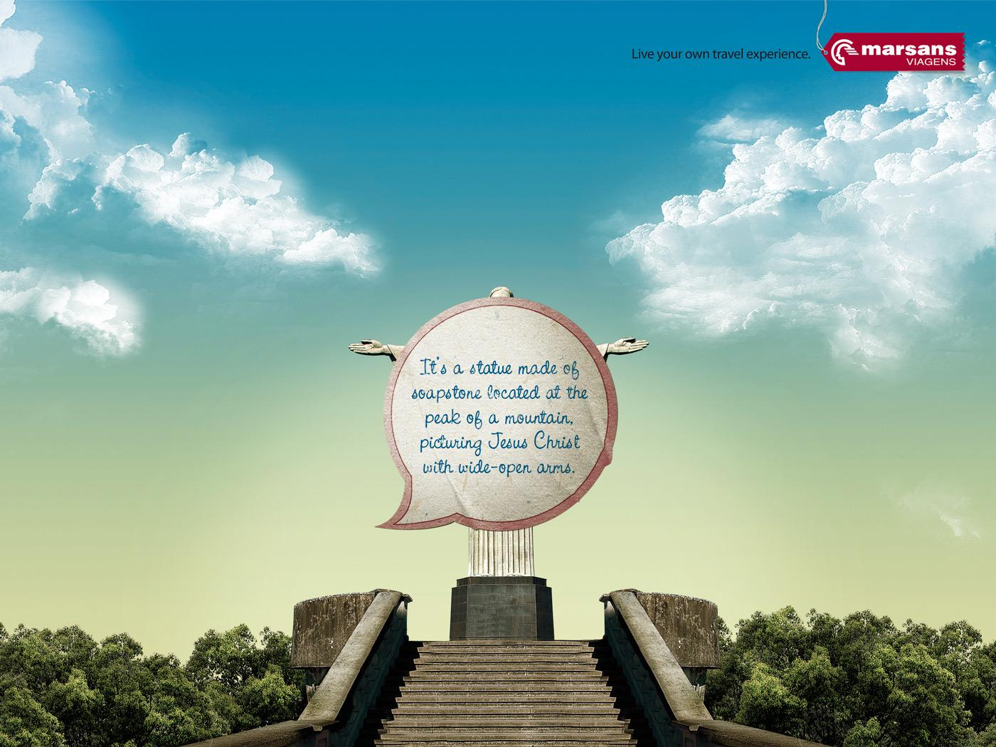 Marsans Viagens Print Ad -  Live your own travel experience, Christ