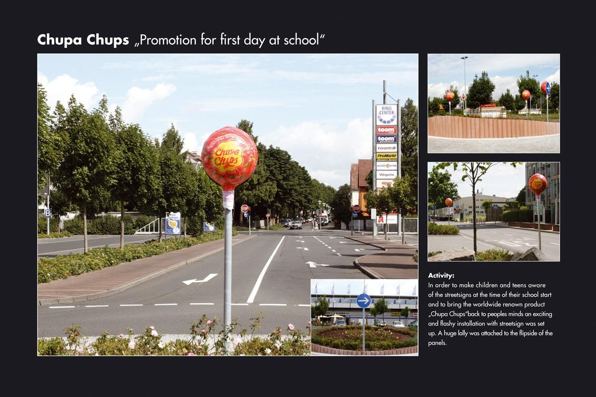 Chupa Chups Ambient Ad -  Back to school