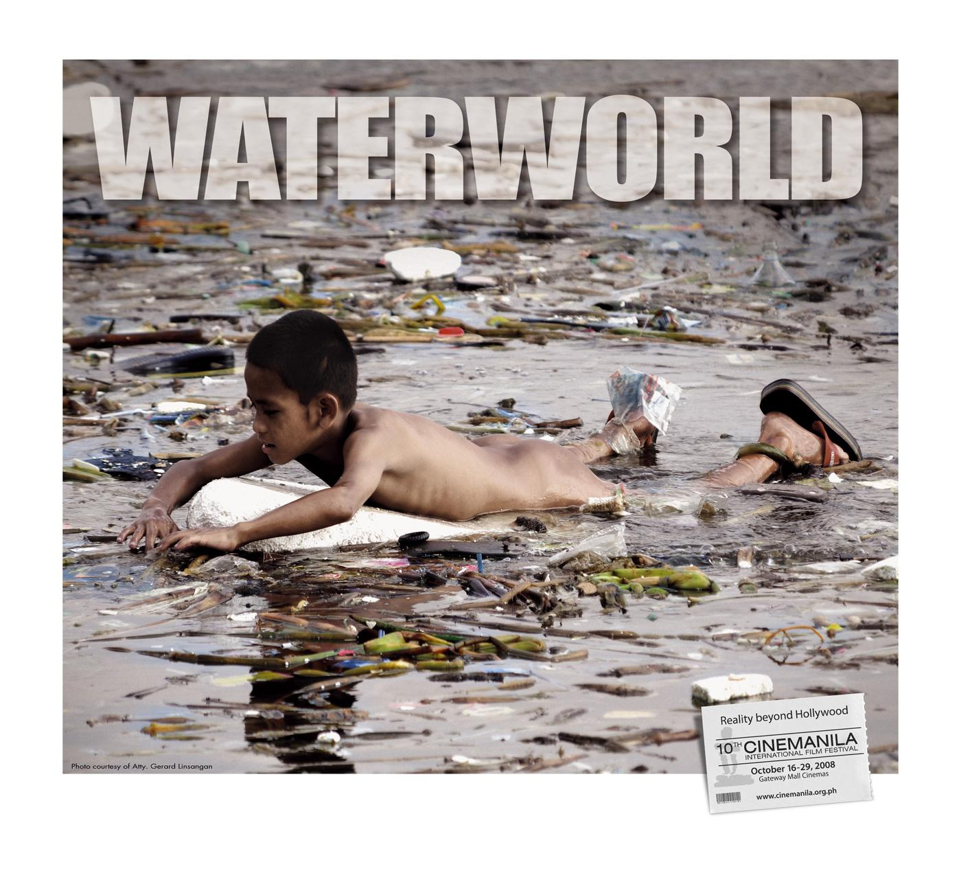 Cinemanila Print Ad -  Waterworld