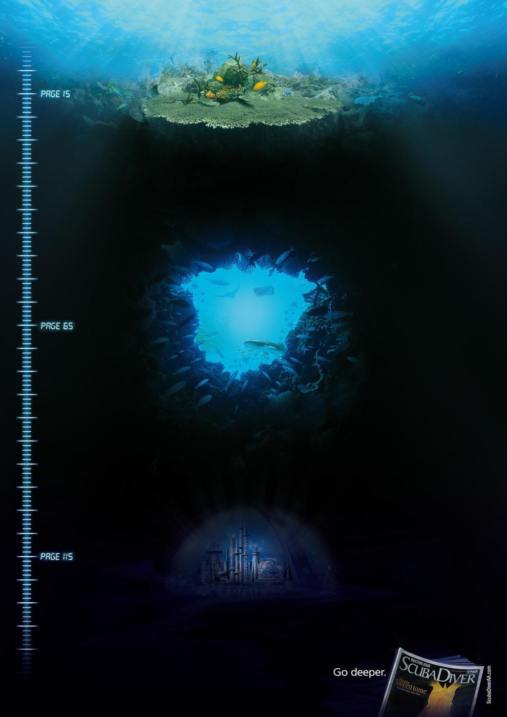 Scuba Diver Magazine Print Ad -  City of the Deep