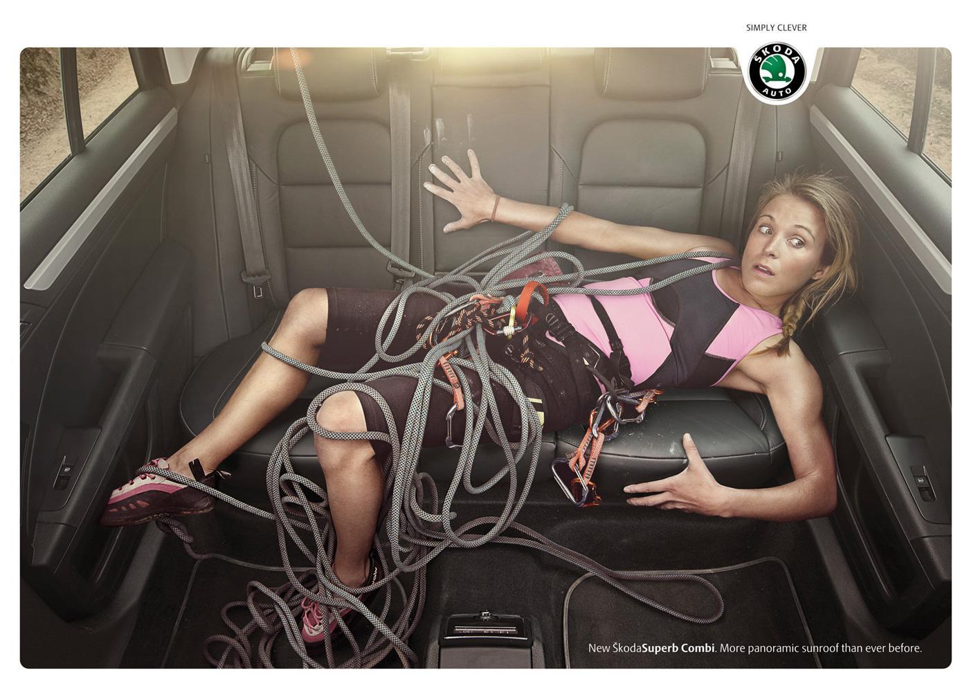 Skoda Print Ad -  Climber