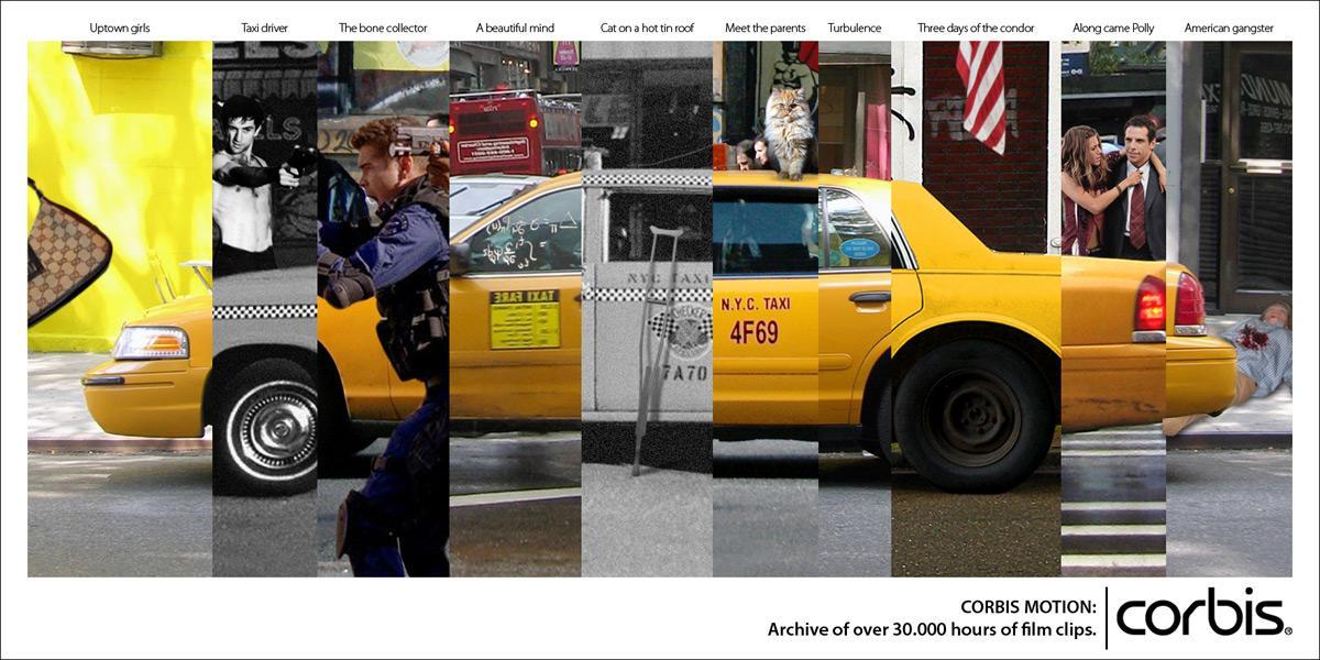 Corbis Print Ad -  Taxi