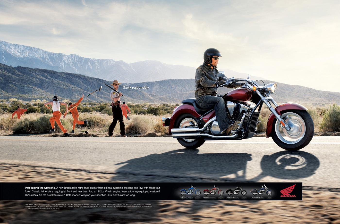 Honda Print Ad -  Chain gang