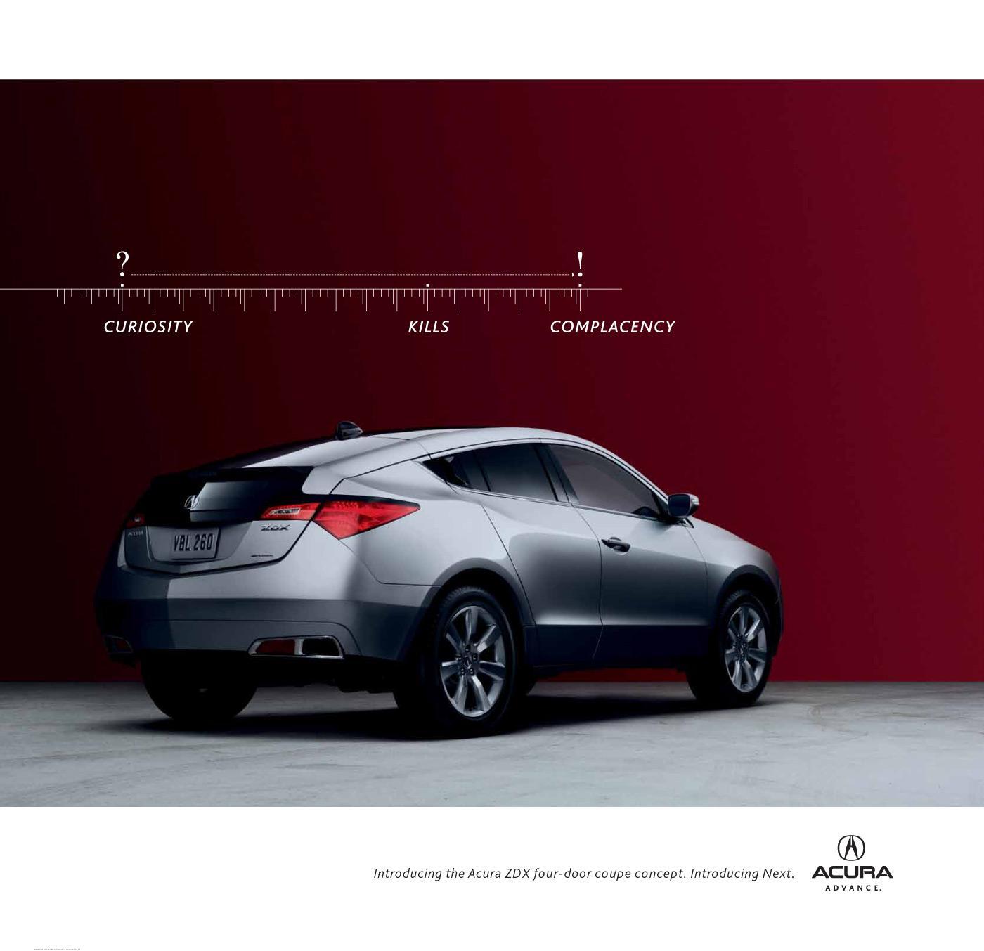 Honda Print Ad -  Curiosity Kills Complacency