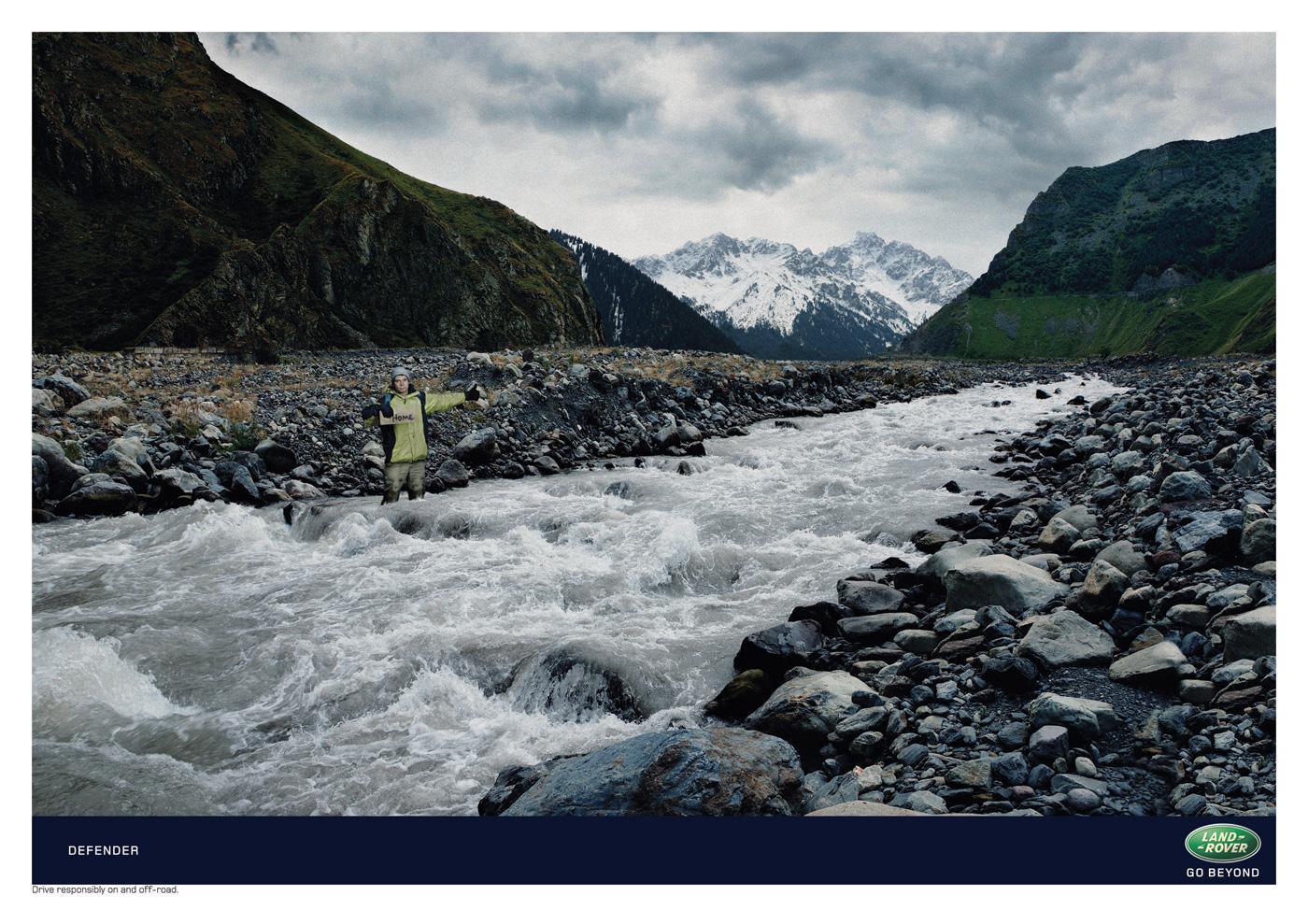 Land Rover Print Ad -  River