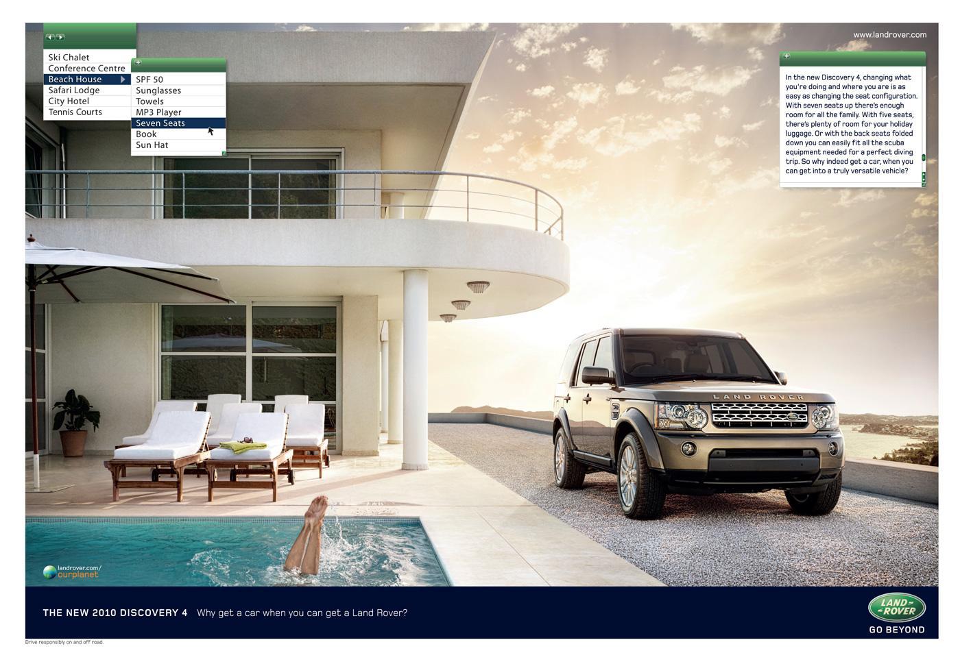 Land Rover Print Ad -  Pool