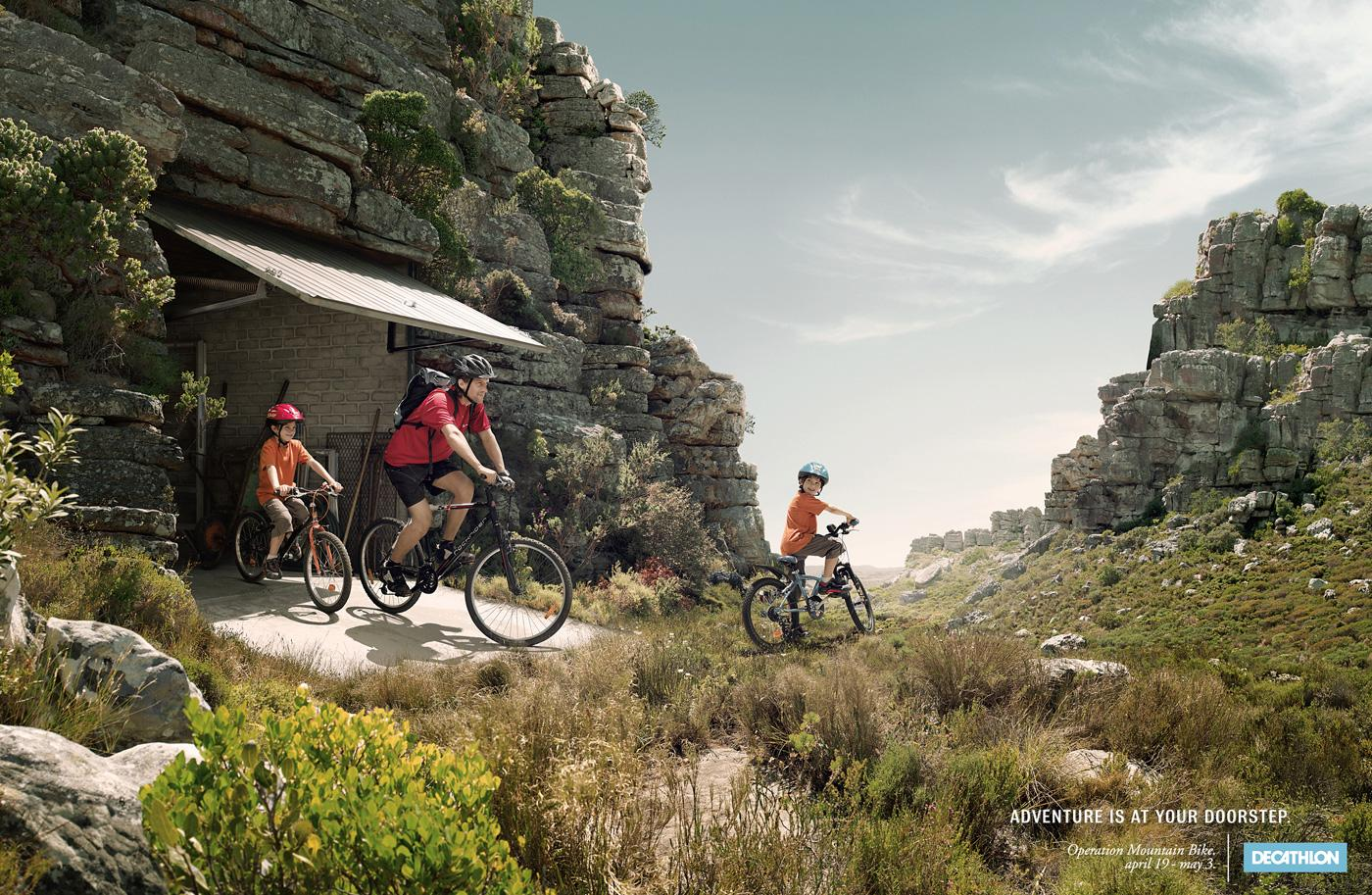 Decathlon Print Ad -  Operation Mountain Bike