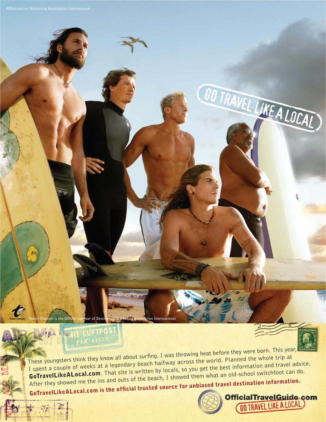 Destination Marketing Association International Print Ad -  Go travel like a local, 2