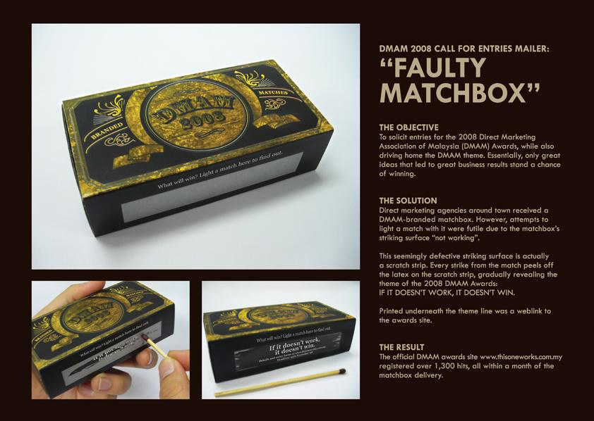 Direct Marketing Association of Malaysia Direct Ad -  The faulty matchbox
