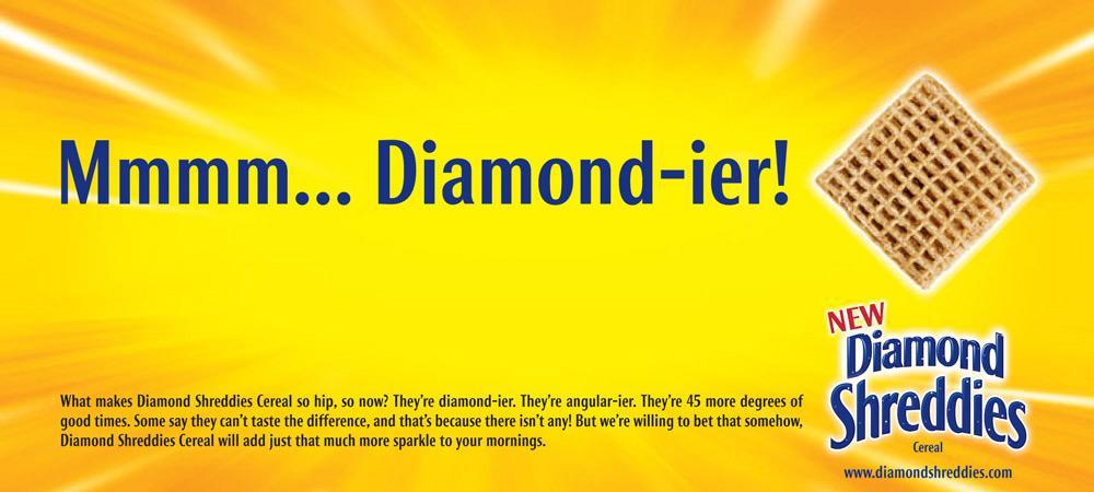 Post Shreddies Print Ad -  Diamond-ier