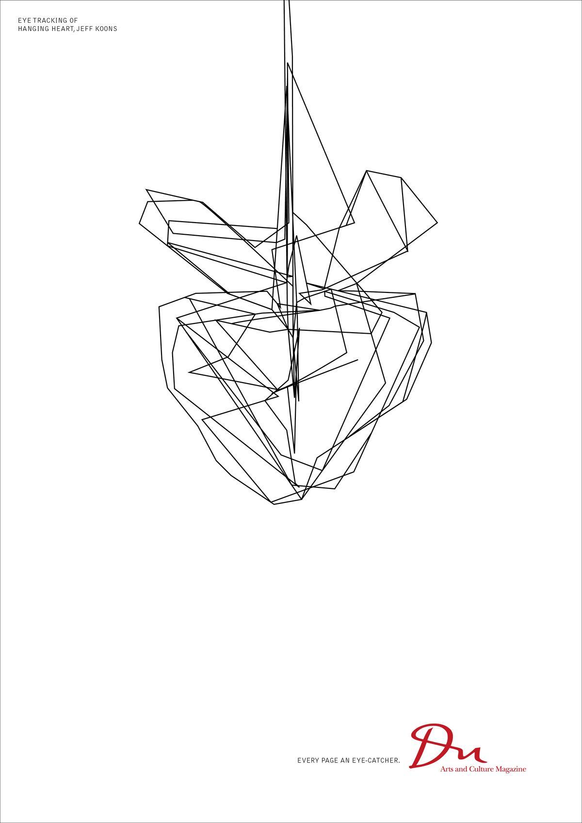 DU Kulturmagazin Print Ad -  Eye tracking Jeff Koons