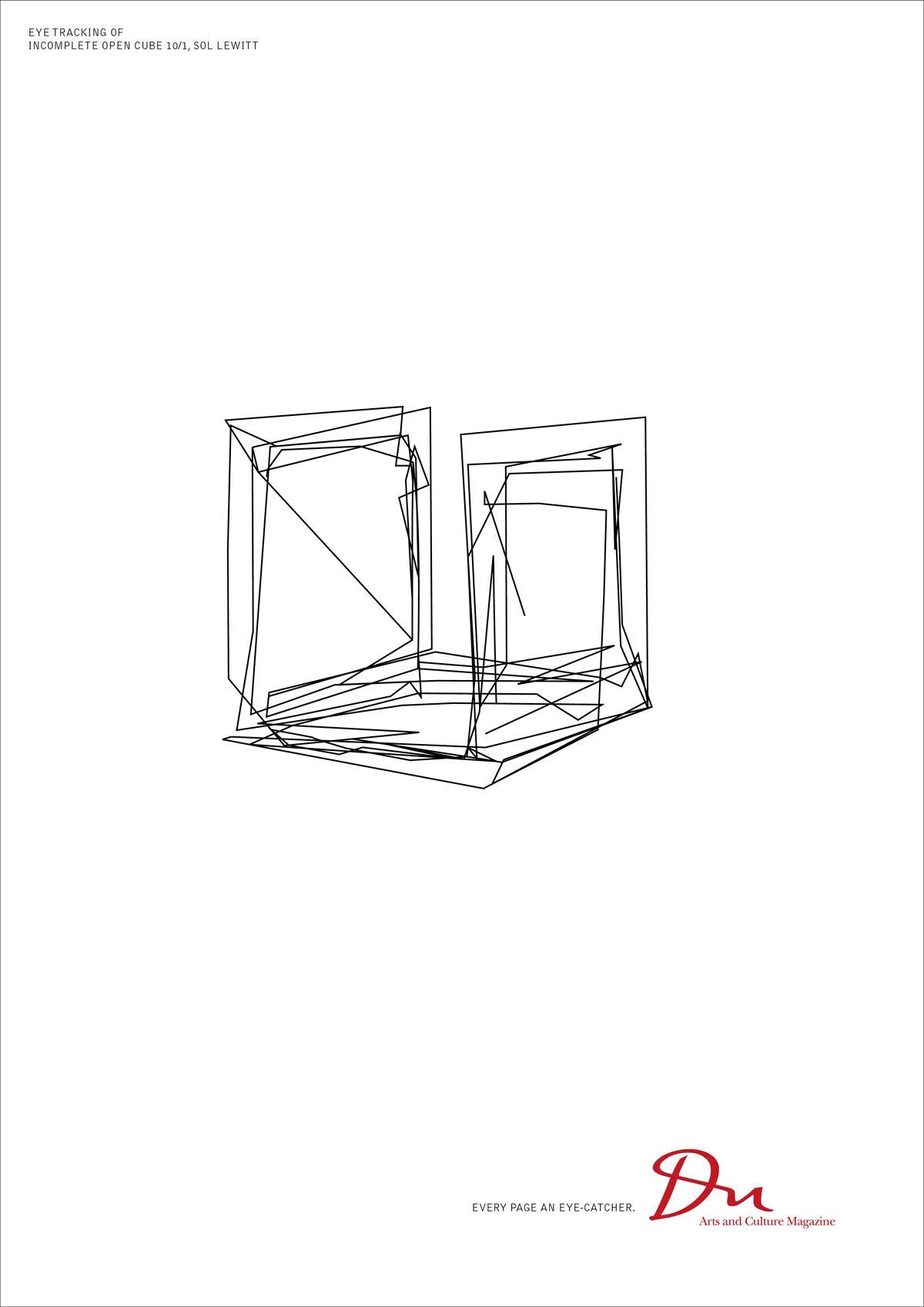 DU Kulturmagazin Print Ad -  Eye tracking Sol Lewitt