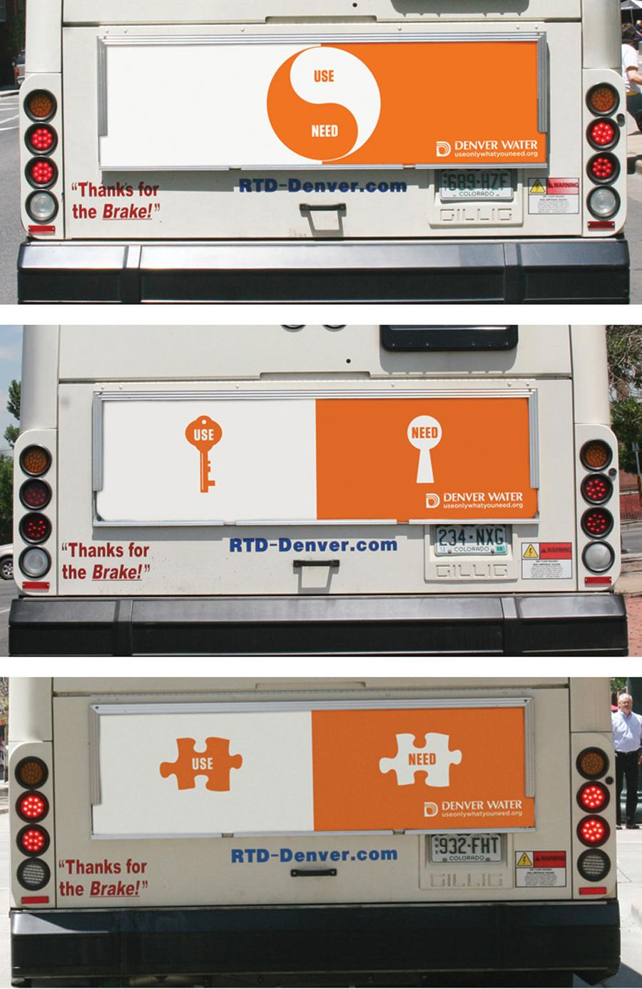 Denver Water Ambient Ad -  Bus