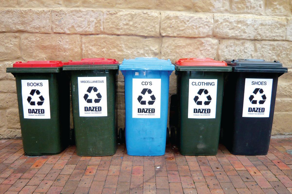 Censor the mundane trash bins