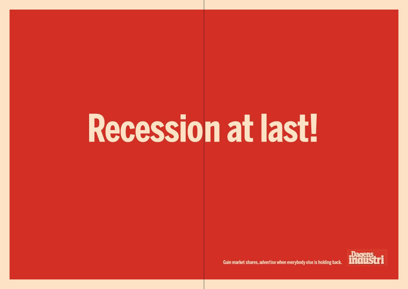 Dagens Industri Print Ad -  Recession-1