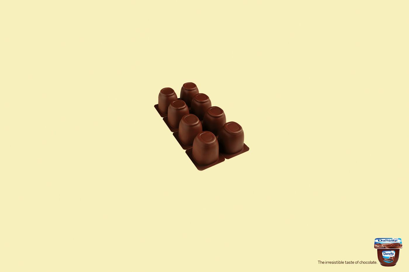 Danone Print Ad -  Chocolate bar