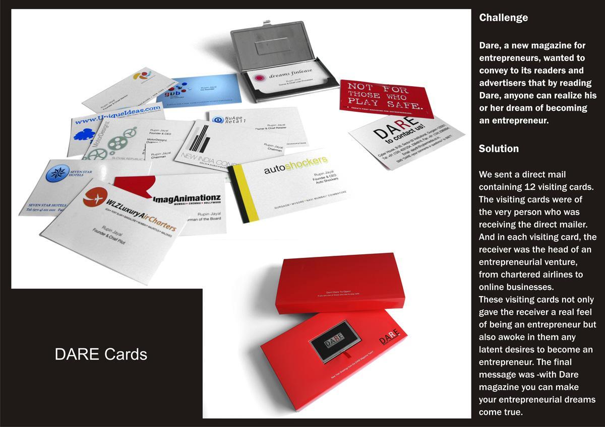 Dare Direct Ad -  Cards