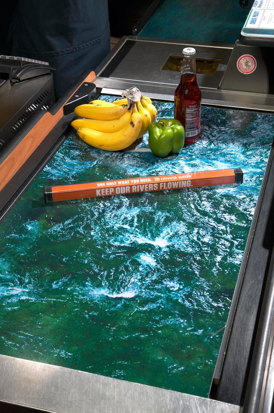 Denver Water Ambient Ad -  Conveyor belt