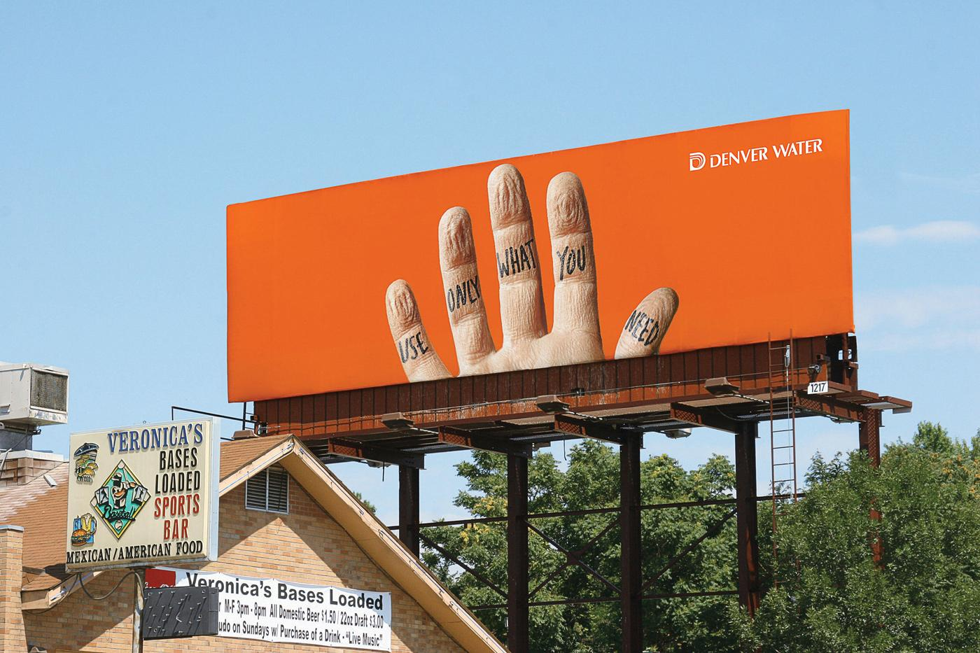 Denver Water Outdoor Ad -  Hand