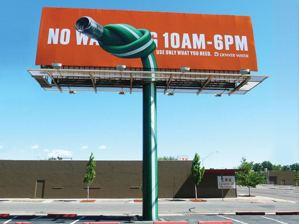 Denver Water Outdoor Ad -  Hose