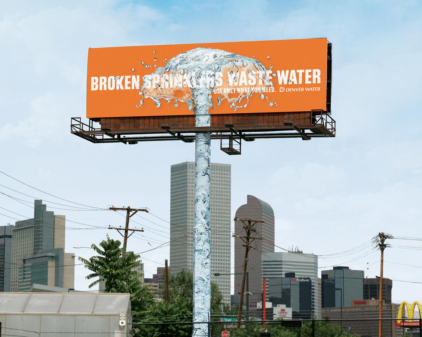 Denver Water Outdoor Ad -  Sprinkler