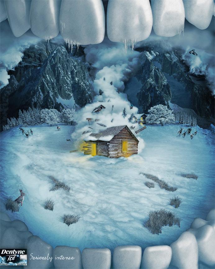 Dentyne Print Ad -  Avalanche