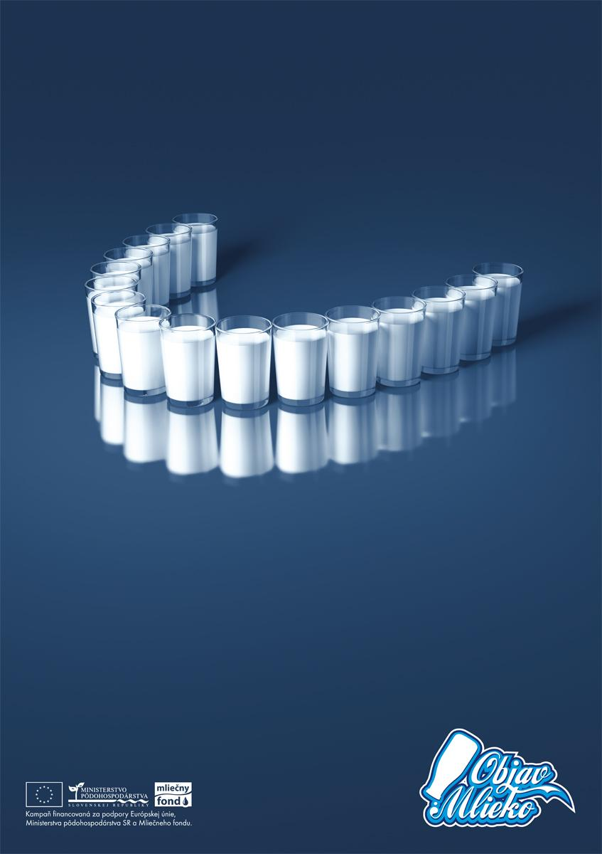 Slovak Association of Dairy Print Ad -  Teeth