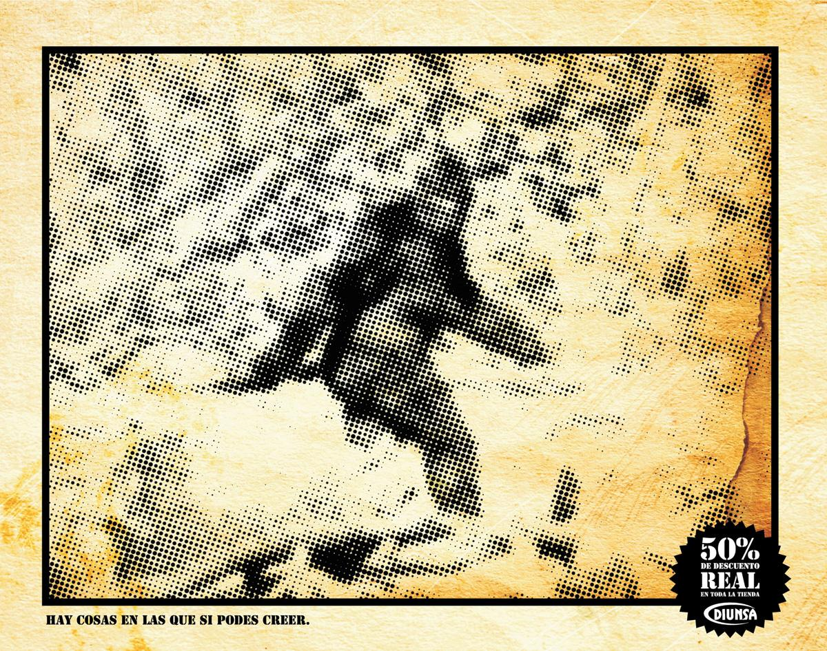 Diunsa Print Ad -  Big Foot