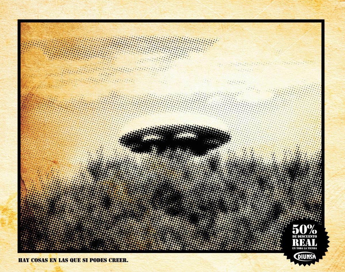 Diunsa Print Ad -  UFO